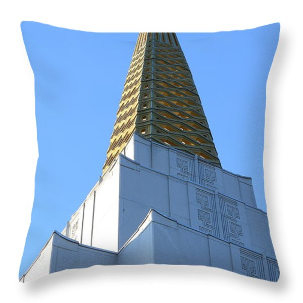 Oakland California Temple . The Church Of Jesus Christ Of Latter-day Saints . 7d11358 Throw Pillow by Wingsdomain Art and Photography