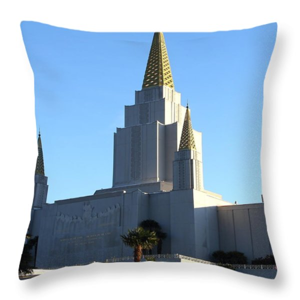 Oakland California Temple . The Church Of Jesus Christ Of Latter-day Saints . 7d11374 Throw Pillow by Wingsdomain Art and Photography