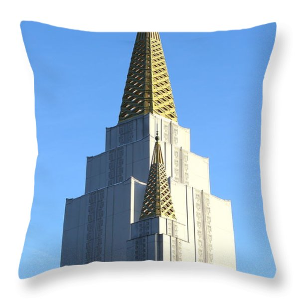 Oakland California Temple . The Church of Jesus Christ of Latter-Day Saints . 7D11381 Throw Pillow by Wingsdomain Art and Photography