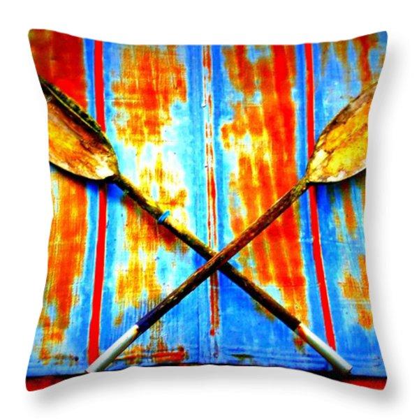 Oar Else Throw Pillow by Randall Weidner