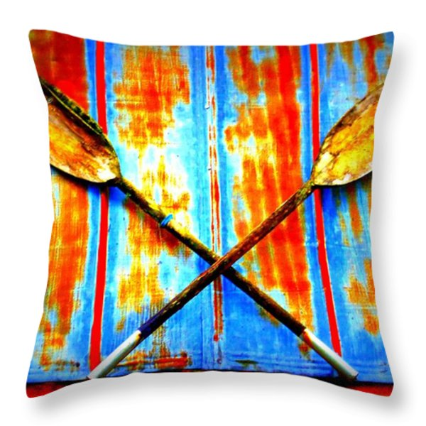 Oar Else Throw Pillow by Randall Weidner
