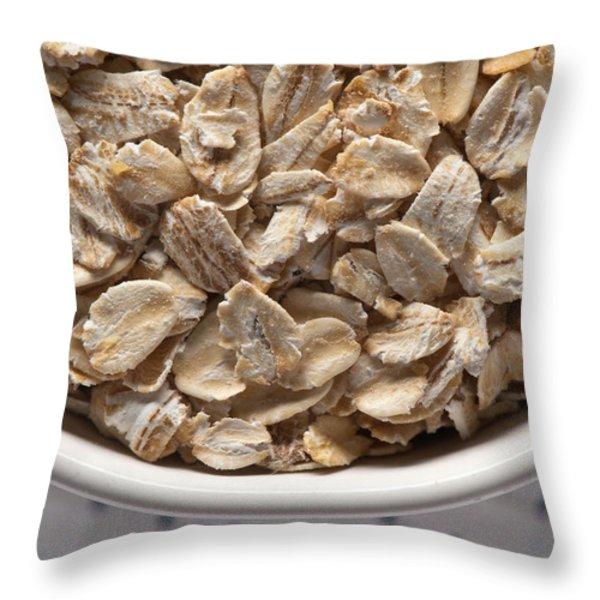Oatmeal Throw Pillow by Steve Gadomski