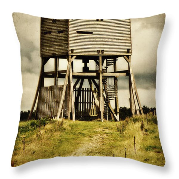 Observation tower Throw Pillow by Angela Doelling AD DESIGN Photo and PhotoArt