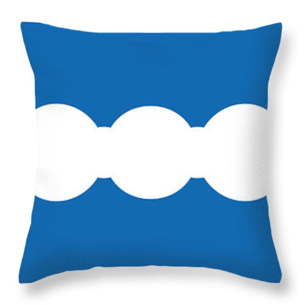 Ocean Blue Abstract Throw Pillow by Frank Tschakert