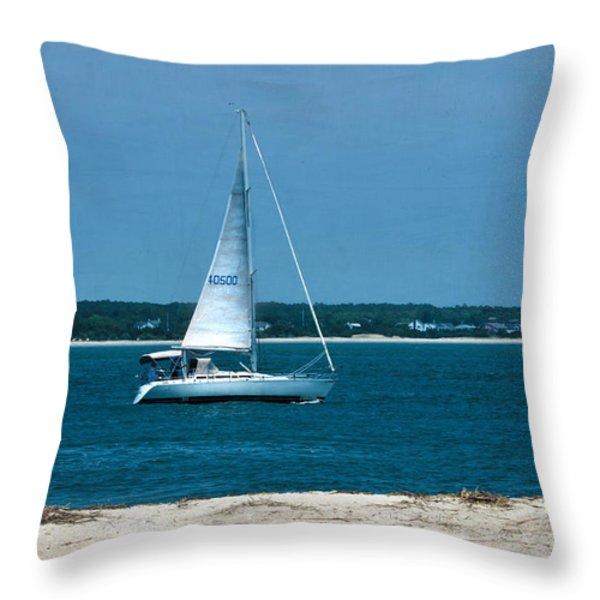 Ocean Bound Throw Pillow by Sandi OReilly