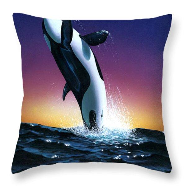 Ocean Leap Throw Pillow by MGL Studio - Chris Hiett