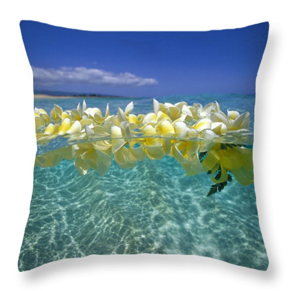 Ocean Surface Throw Pillow by Vince Cavataio - Printscapes
