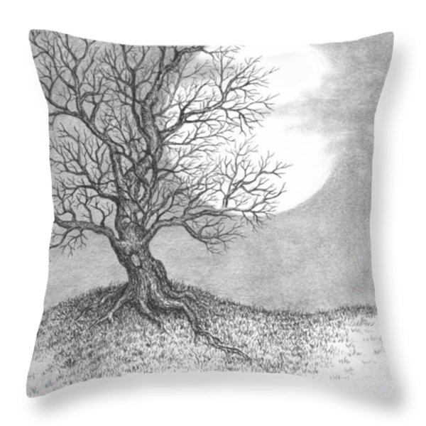 October Moon Throw Pillow by Adam Zebediah Joseph