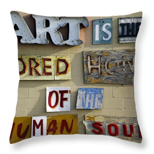 Ode to Art Throw Pillow by Jill Reger