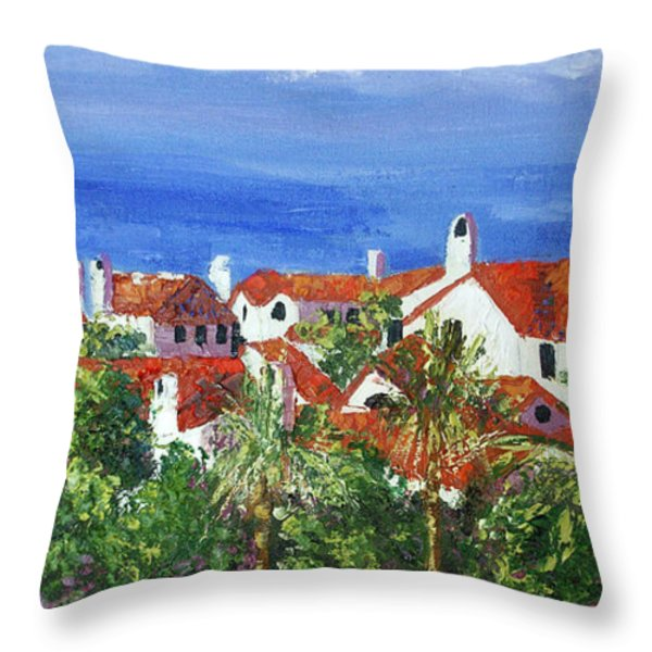 Off The Coast Throw Pillow by Anthony Falbo