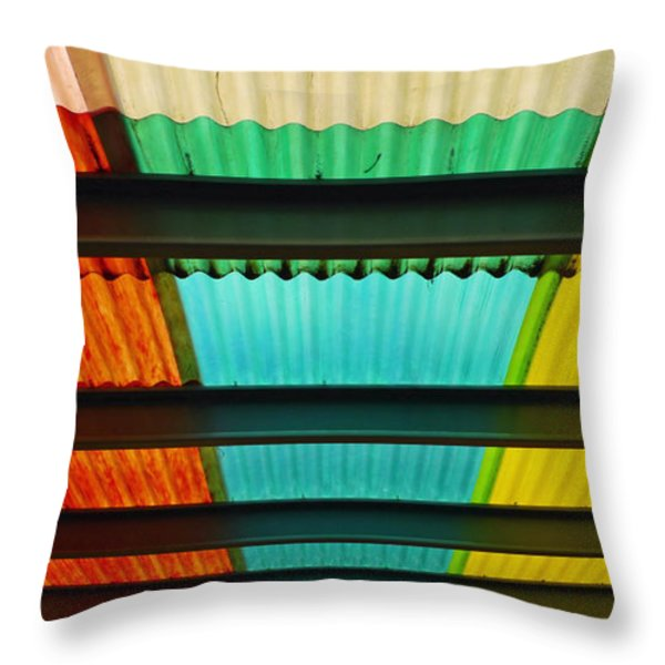 Off the Grid Throw Pillow by Skip Hunt