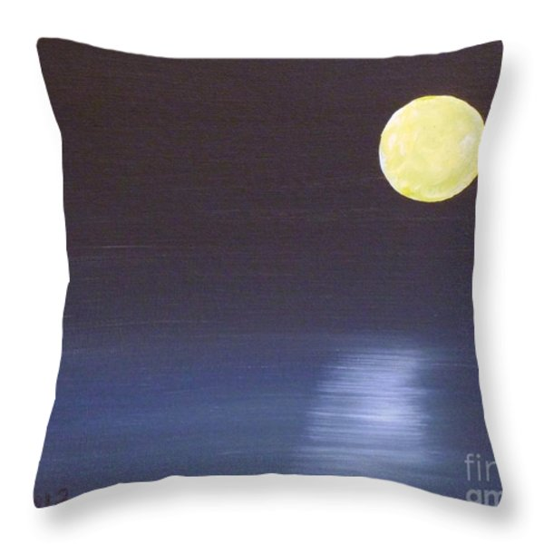 Offset Moon Throw Pillow by Alys Caviness-Gober
