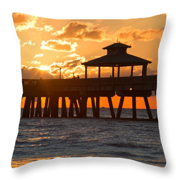 Oh Happy Day Throw Pillow by Debra and Dave Vanderlaan