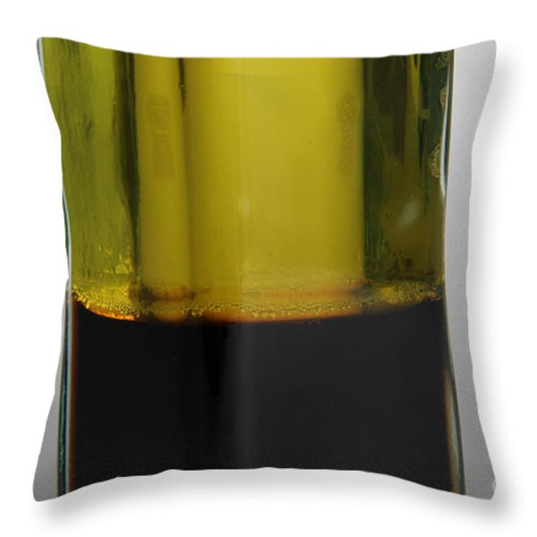 Oil And Vinegar Throw Pillow by Photo Researchers