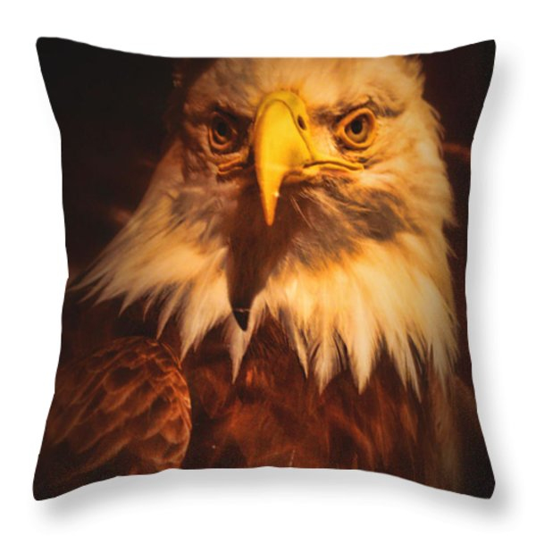 Old Abe Profile Throw Pillow by Tommy Anderson