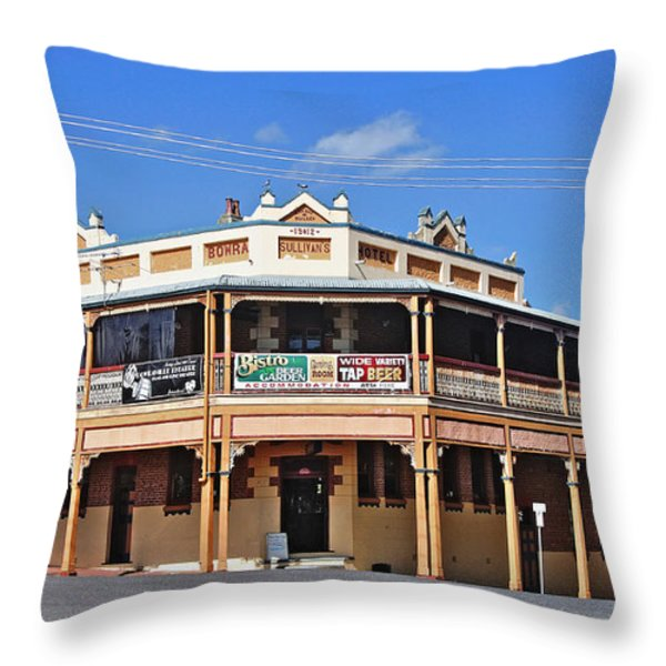 Old Aussie Pub Throw Pillow by Kaye Menner