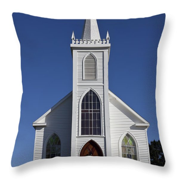 Old Bodega Church Throw Pillow by Garry Gay