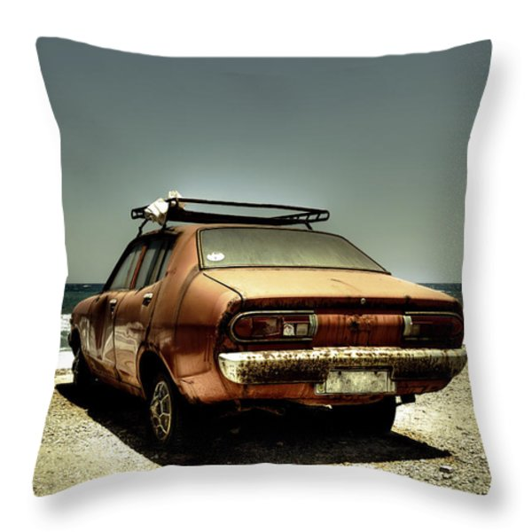 old car Throw Pillow by Joana Kruse