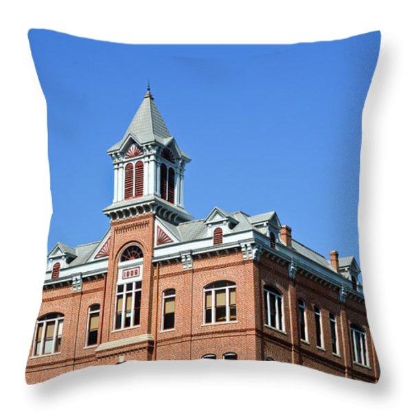 Old Courthouse Powhatan Arkansas 1 Throw Pillow by Douglas Barnett