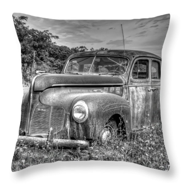 Old DeSoto Throw Pillow by Scott Norris