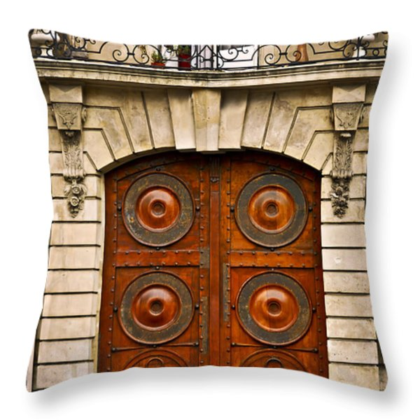 Old Doors Throw Pillow by Elena Elisseeva