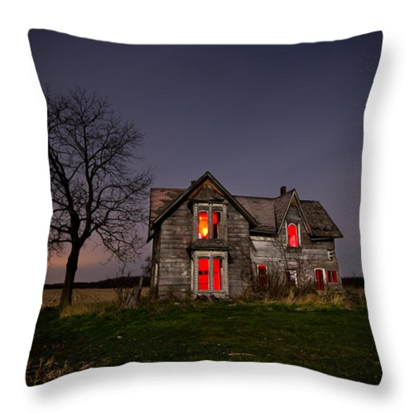 Old Farm House Throw Pillow by Cale Best