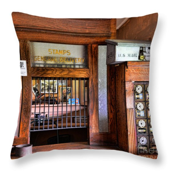 Old Fashion Post Office Throw Pillow by Paul Ward