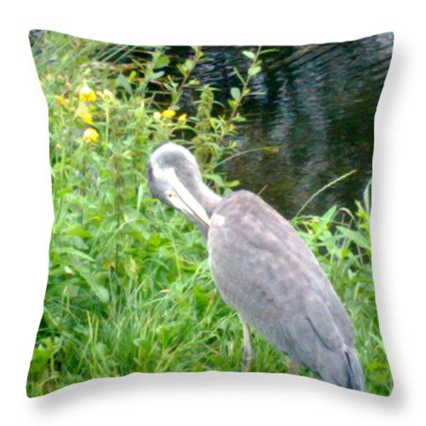 Old Fisherman Throw Pillow by Tis Art