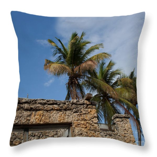 Old Florida Throw Pillow by Barbara McMahon