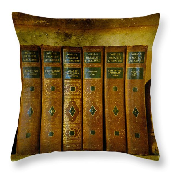 Old Friends Throw Pillow by Lois Bryan