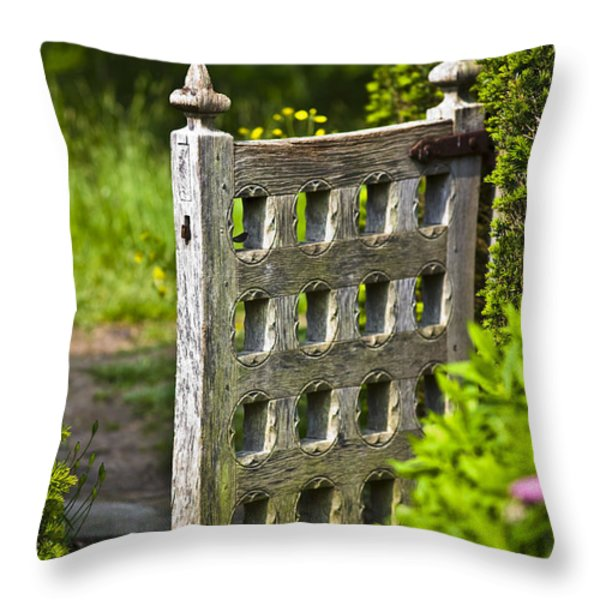 Old Garden Entrance Throw Pillow by Heiko Koehrer-Wagner