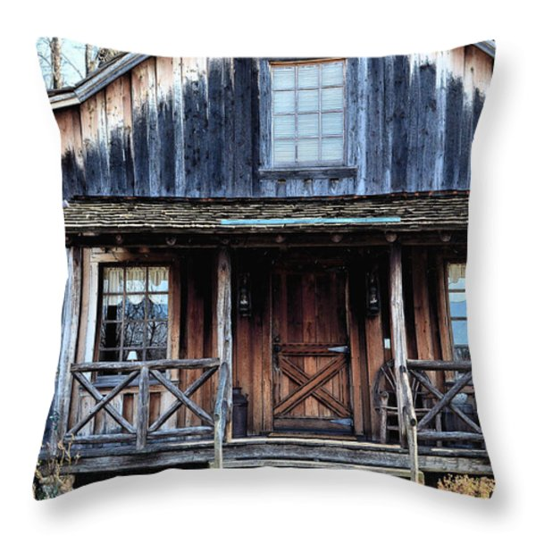 Old Log House2 Throw Pillow by Sandi OReilly