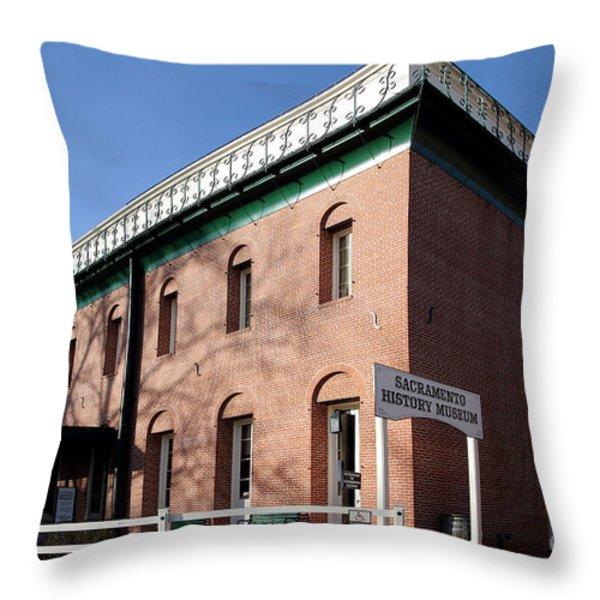 Old Sacramento California . Sacramento History Museum . 7d11700 Throw Pillow by Wingsdomain Art and Photography