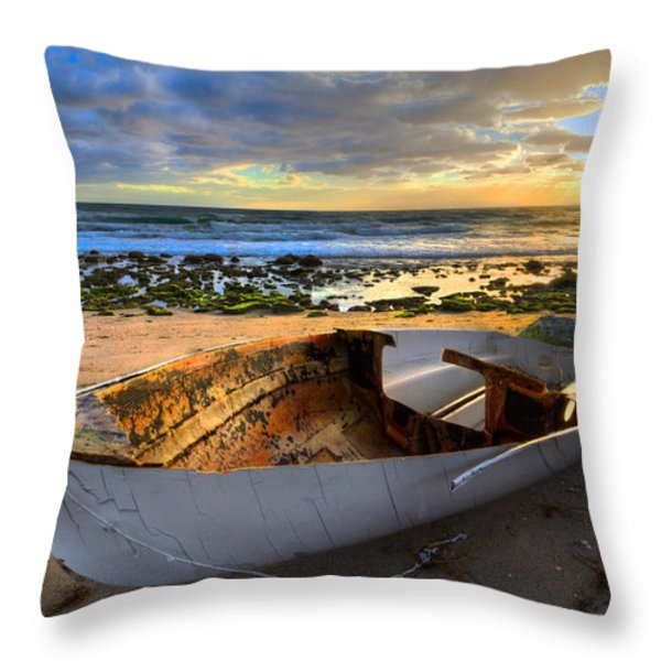 Old Salty II Throw Pillow by Debra and Dave Vanderlaan