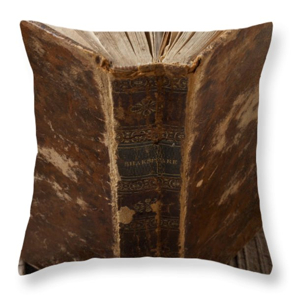 Old Shakespeare Book Throw Pillow by Garry Gay