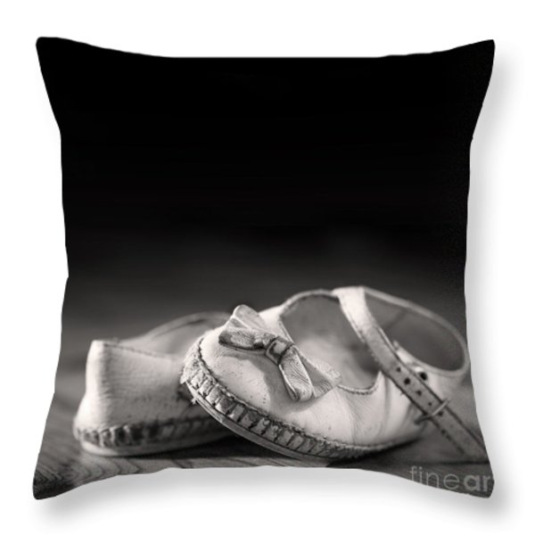 Old Shoes Throw Pillow by Jane Rix