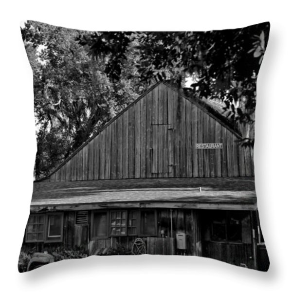 Old Spanish Sugar Mill Throw Pillow by DigiArt Diaries by Vicky B Fuller