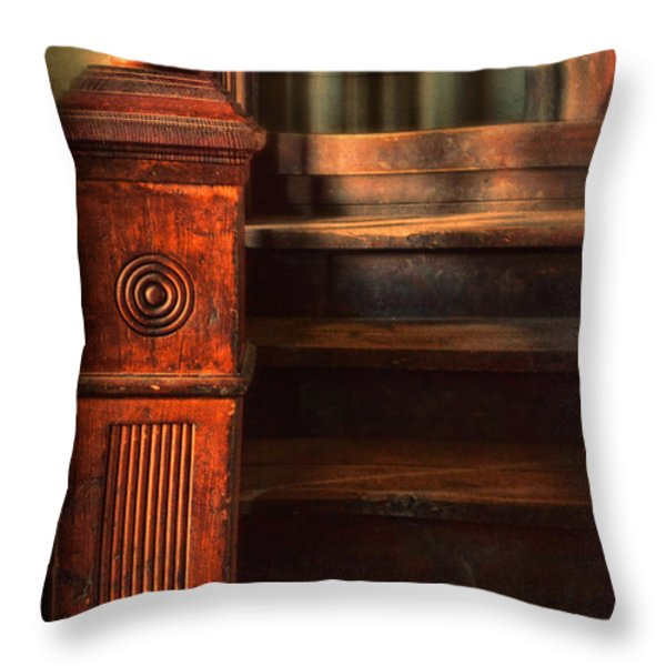 Old Staircase Throw Pillow by Jill Battaglia