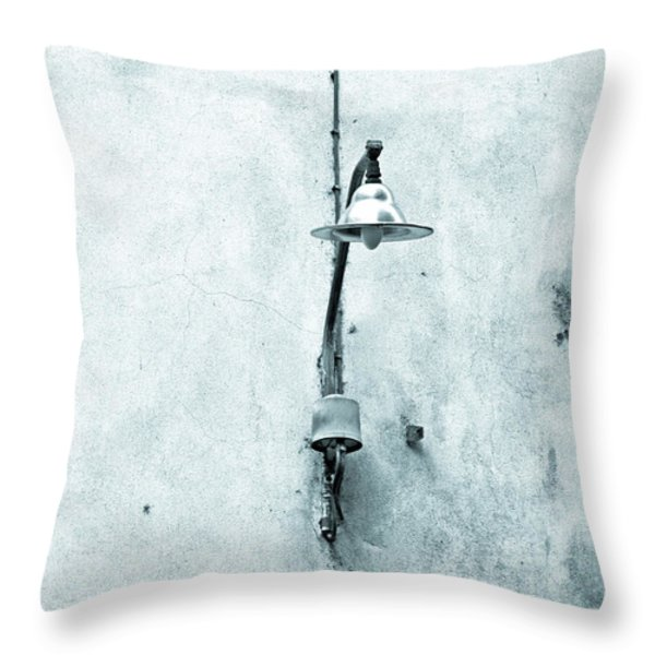 Old street lamp Throw Pillow by Silvia Ganora