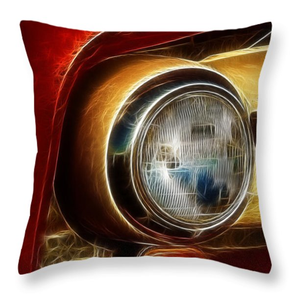 Old Truck Headlight Throw Pillow by Darleen Stry