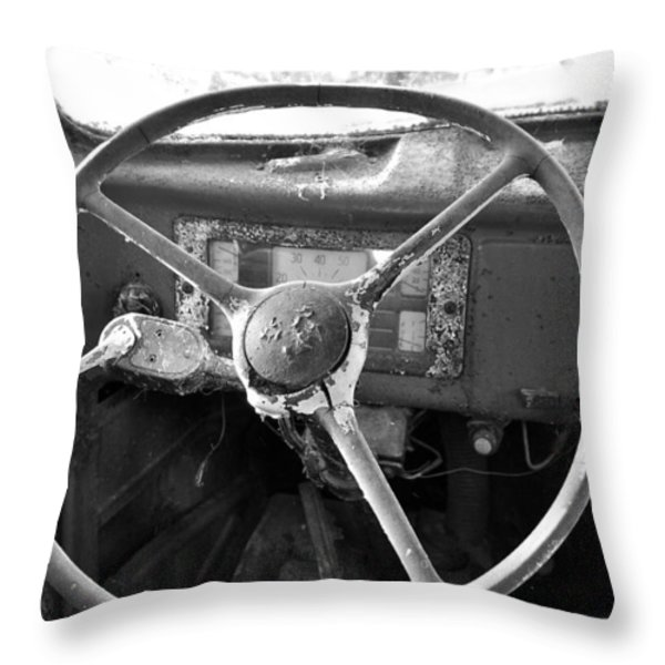 Old Truck Throw Pillow by Todd Hostetter