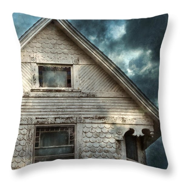 Old Victorian House Detail Throw Pillow by Jill Battaglia