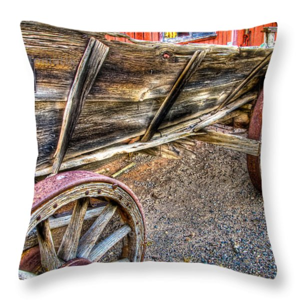 Old Wagon Throw Pillow by Jon Berghoff