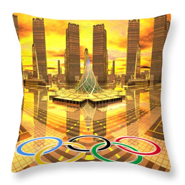 Olympia the City of Ancient and new Champions Throw Pillow by Heinz G Mielke