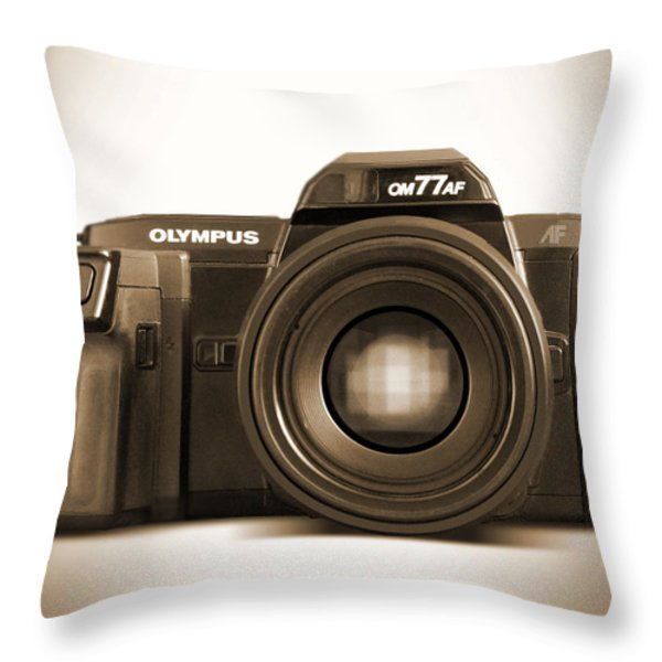 Olympus OM77AF Throw Pillow by Mike McGlothlen
