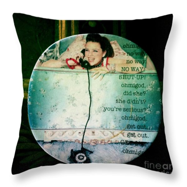 Omg No Way Shut Up Throw Pillow by Nina Prommer