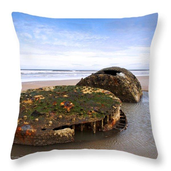 On A Beach Throw Pillow by Svetlana Sewell