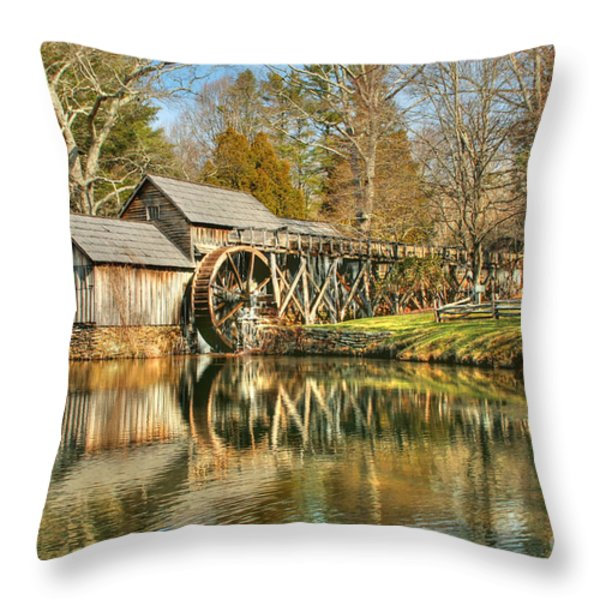On A March Day Throw Pillow by Darren Fisher