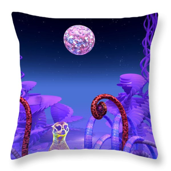 On Another Planet Throw Pillow by Douglas Barnard