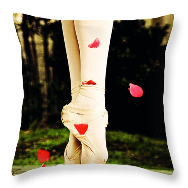 On Point Throw Pillow by Heather Arsement